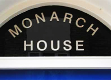 Vinyl Lettering Sign, Monarch House