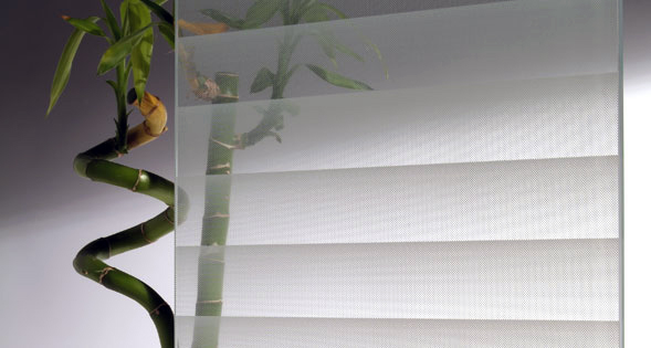 Frosted Vinyl with horizontal blind look, Vinyl Decorative and Privacy