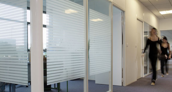 Frosted Vinyl with very thin Horizontal Lines, Vinyl Decorative and Privacy