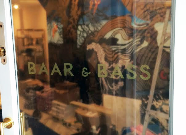 Indoor Vinyl project, lettering for our client BAAR & BASS