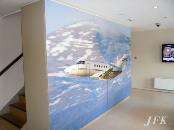 Indoor Vinyl project, bespoke & digital for our client CASTLE AIR