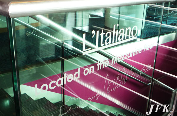 Indoor Vinyl project, lettering for our client ITALIANO RESTAURANT