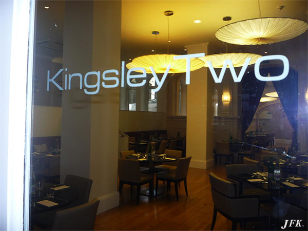 Indoor Vinyl project, window graphics for our client KINGSLEY TWO