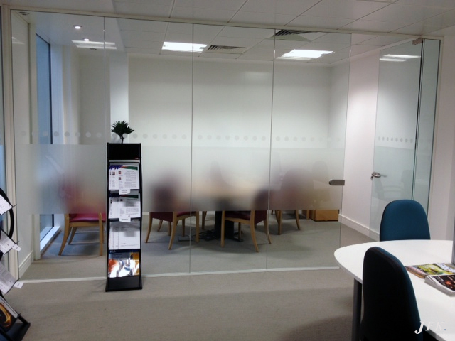 Indoor Vinyl project, decorative and privacy for our client LEGAL