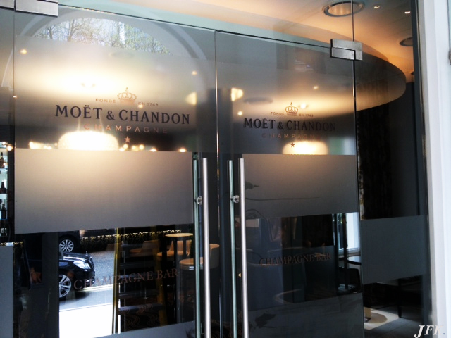 Indoor Vinyl project, lettering for our client MONTCALM HOTEL