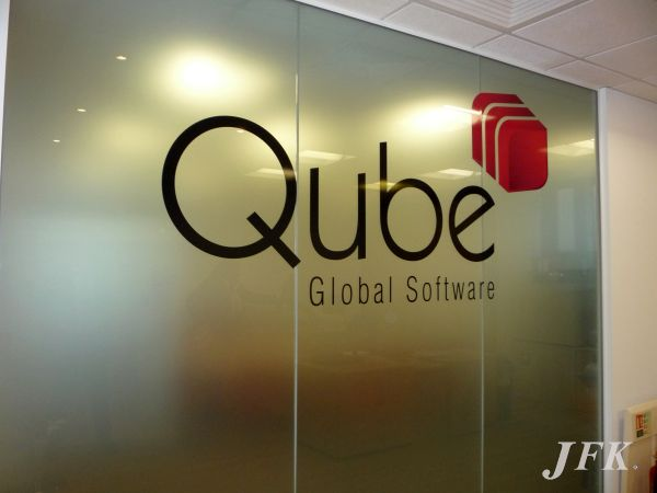 Indoor Vinyl project, bespoke & digital for our client QUBE