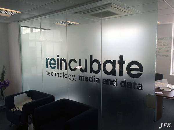 Indoor Vinyl project, lettering for our client REINCUBATE